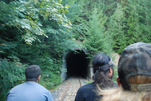 Approaching a tunnel with a curve inside