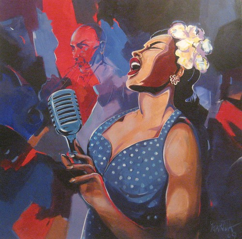 Billy Holiday - Painting