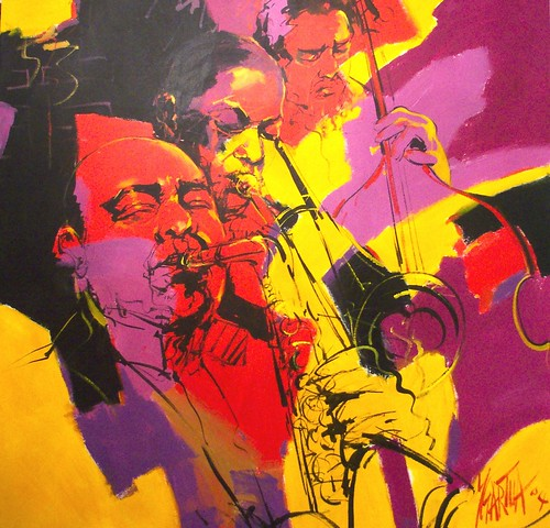 Hot colours 120 x 120 cm