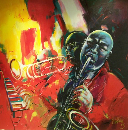 Red Jazz - Painting