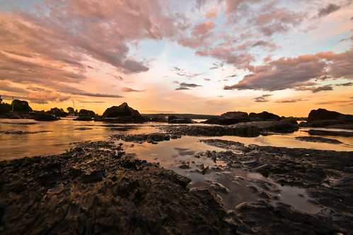[フリー画像] 自然・風景, 海岸, 夕日・夕焼け・日没, ノルウェー, 201109271900