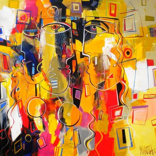 L'Ame - Painting - Cubism