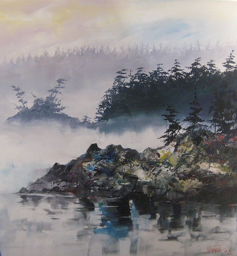 Misty Morning - Painting - Realism