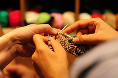 Saturday knitting class (sifis) Tags: city art love wool smile fashion sweater hands nikon knitting knit saturday merino athens class yarn greece cables tradition needles learn pullover handknitting  sakalak