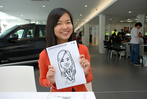 Caricature live sketching for Performance Premium Selection first year anniversary - day 3 - 6