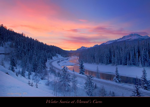 "Winter Sunrise at Morant's Curve - Happy Birthday Jerry! by Joalhi ""Away in Colombia"""