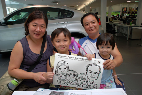 Caricature live sketching for Performance Premium Selection first year anniversary - day 4 - 19