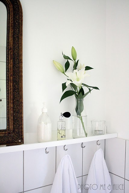 me&alice-shelf in bathroom