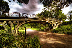 Gothic Bridge Central Park NYC --- EXPLORE (Swissrock) Tags: park nyc newyorkcity usa texture photoshop nikon centralpark gothic september nikkor archways hdr vaux 1864 2011 tonemapping gothicbridge d700 1424mm amazingtexturedphotos superamazingtexturedphotosaward