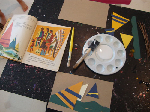 book-inspired teepee craft