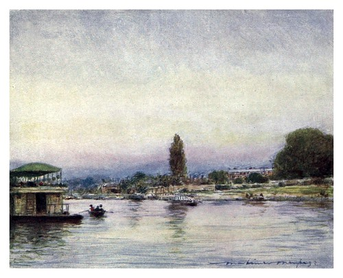 021-Hampton Court desde el rio-The Thames-1906- Mortimer Menpes