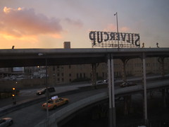 Silvercup Studios at Sunset - Long Island City, Queens (ChrisGoldNY) Tags: city nyc newyorkcity sunset urban usa signs newyork clouds america ramps taxis queens lic gothamist studios cabs longislandcity curbed silvercupstudios silvercup qns queensboroughplaza chrisgoldny chrisgoldberg chrisgold chrisgoldphoto chrisgoldphotos