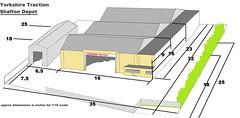 Yorkshire Traction Shafton depot model proposal (kingsway john) Tags: yorkshire traction kingsway models card kit model bus deppot garage 176 scale drawing sketch oo gauge miniature