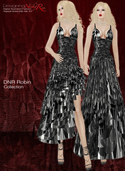 DNR Robin V Poster Black (designingnickyree) Tags: clothing dresses gowns apparel nickyree slfashion resortfashion dnrrobincollection