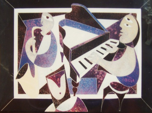 Who's Playing    Painting - Original - Plexiglass