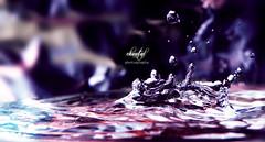 VIOLET (Yussra..) Tags: pink test colors fun frozen droplets nikon purple shot violet drop h2o drip lovely p100 drolets