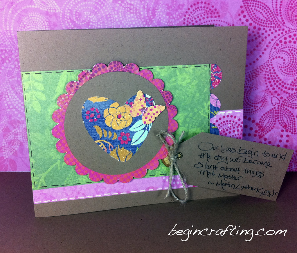 Handmade Heart Inside Circle Card