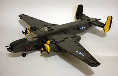 B-25 J (Babalas Shipyards) Tags: army force lego aircraft aviation military air north american mitchell bomber worldwar2 b25 moc minifigurescale