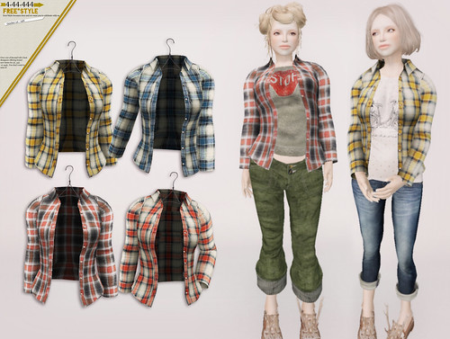couverture check shirt *mesh* for 4.44.444