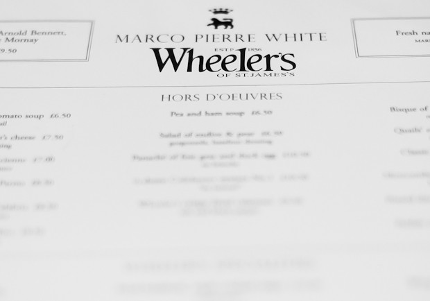 Menu at Wheeler's at the Chequers Inn Maresfield