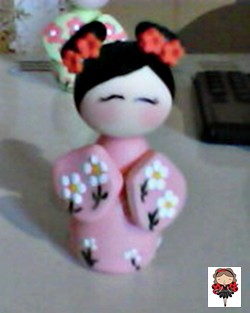 kokeshi em biscuit by Coisando as Coisas by Clau
