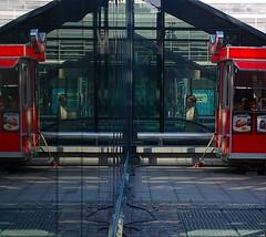 Mirror World (yellowgreywolf) Tags: windows people shadows fastfood elevator central trainstation malm relfections sausagekitchen korvmoje