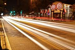 270/365 vortex (ajbrusteinthreesixfive) Tags: road street car night canon project aj lights photo slow place traffic time little 5 five tail headlights ave hamburger points shutter 365 avenue photoproject moreland brustein 50d threesixfive