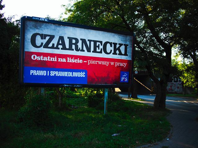CZARNECKI -- ostatni na liście -- pierwszy w pracy billboard wyborczy 2011