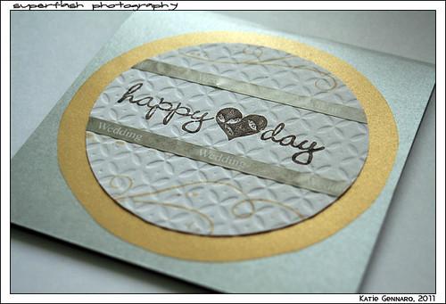 Square wedding card