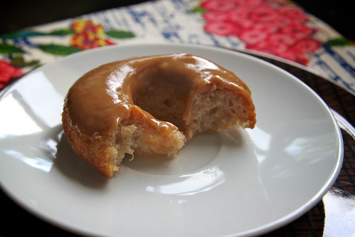 baked banana doughnuts w/ pb frosting