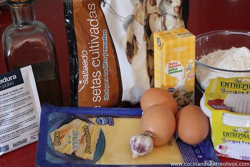Pastel de hongos en canelón de queso gratinado (1)