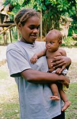 Mother with baby (bokage) Tags: village hill tribe solomonislands malaita kwaio
