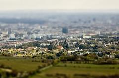 Vienna Tilt-Shift'ed (Serge Freeman) Tags: vienna city houses photoshop buildings austria cityscape aerial