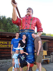 The Vandermarks with Paul Bunyan