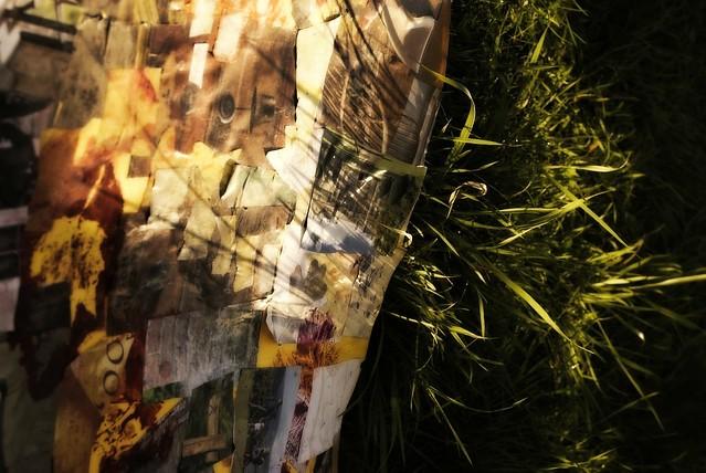 autumn collage fragment