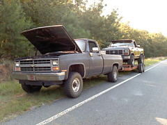 0827111803 (stevenbr549) Tags: ford chevrolet truck 4x4 f150 chevy trailer 1985 85 towing k10
