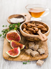 ingredients for tart with figs (The Little Squirrel) Tags: for with ingredients tart figs