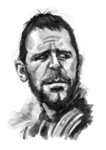 digital caricature of Russel Crowe - 1