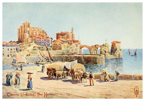 015-Puerto de Castro Urdiales-Northern Spain painted and described-1906- Edgar Thomas Ainger