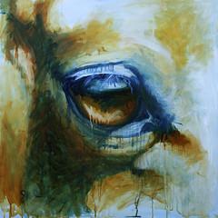 Regard (benedictegele) Tags: wood horses horse art animal painting paper cheval peinture canvas oil tableau animaux bois huile artquestre artquin