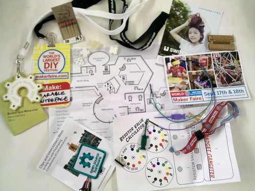 Open hardware summit/maker faire swag scrapbook
