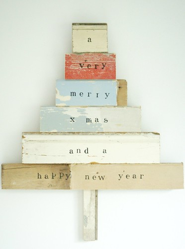 [stamped] wood & wool x-mas tree by wood & wool stool