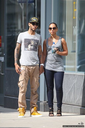 alicia keys and swizz beatz lamping in nyc