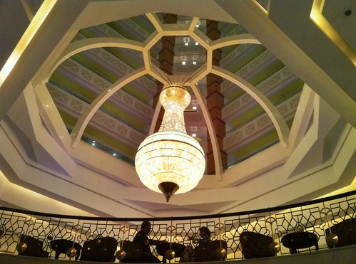 Chandelier in the Ritz Carlton Hotel, Doha, Qatar