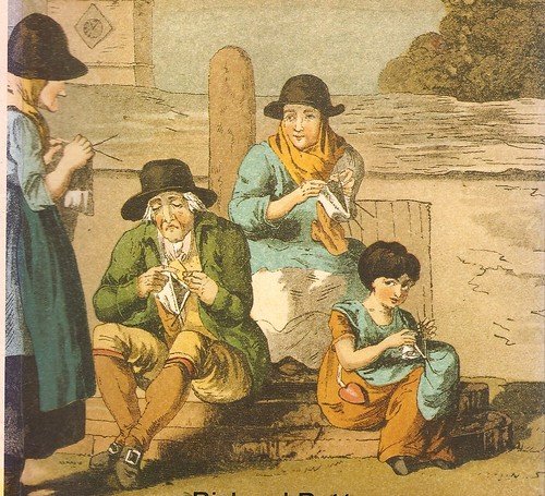 Wensleydale knitters 1814 (loitering around town knitting)