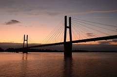Bay View Bridge at Sunset (Tiger Imagery) Tags: sunset bridges quincyil bayviewbridge