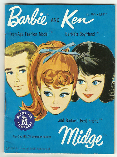 Barbi, Ken & Midge Clothes Catalogue Cover (1955)