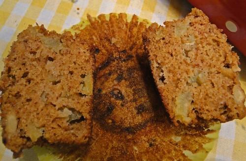Muffin de maçã e granola