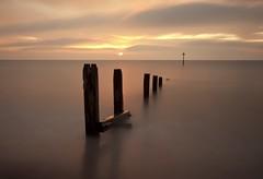 Teignmouth (MartynHall (Gaining interest)) Tags: uk sea england sunrise early seaside big warm long exposure devon groyne stopper teignmouth