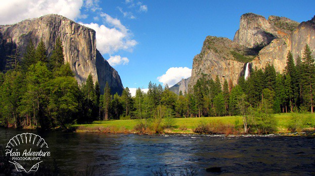 yosemite valley from the floor